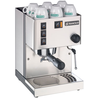 Photograph of a Rancilio Silvia (version 3) espresso machine.