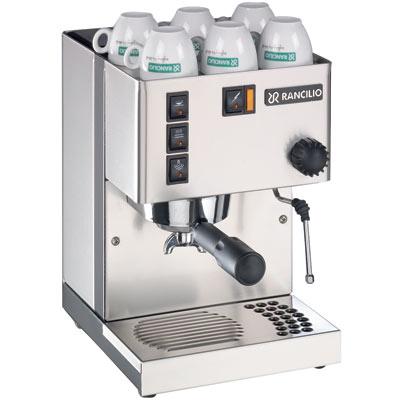 Photograph of a Rancilio Silvia (version 3) espresso machine.